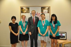 2013年8月優勝チーム来日 米国大使館訪問