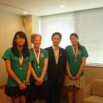 2013年8月優勝チーム来日 外務省訪問